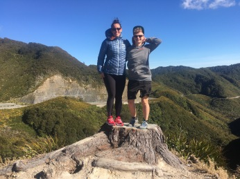 Photo op at the summit of Rimitaka hill