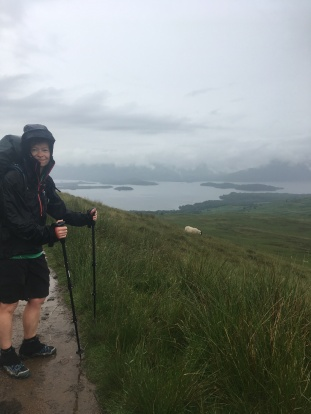 Conic hill. At least we got a little view