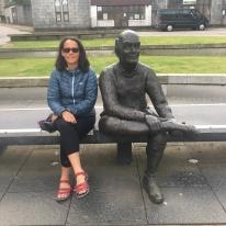 Sore feet statue
