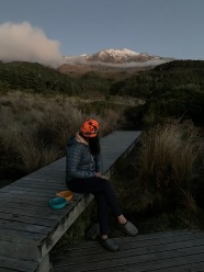 The view at dusk - Whakapapaiti Hut